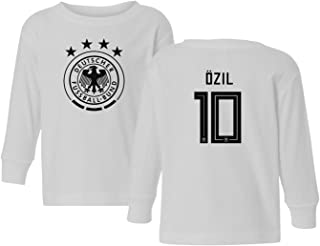 Germany 2018 National Soccer #10 Mesut Ozil World Championship Toddler Long Sleeve T-Shirt