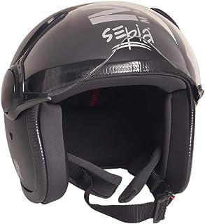 Sepia Muscle Rider Open Face Helmet (Matt Black, M) (SHMR-BL 01)