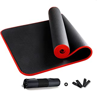 YOGA MAT Black Men Bolsas Y Portadores, para Pilates Fitness Workout Indoor (Color : Black)