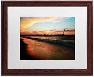 Lakeview Sunset by Jason Shaffer, White Matte, Wood Frame 16x20-Inch