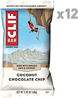 CLIF BAR - Energy Bars - Coconut Chocolate Chip - (2.4 Ounce Protein Bars, 12 Count)