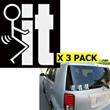 F**k It funny 5.75 In WHITE Die Cut Vinyl Car Decal Sticker for Car Window Automobile Window Car Bumper Truck Laptop Ipad Notebook Computer Tablet Decal Skateboard Motorcycle CCI128