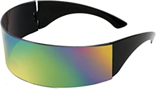 FEISEDY قناع مستقبلي CyberPunk نظارة شمسية للرجال والنساء نمط مستقبلي كبير Cosplay B2740