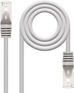 NanoCable 10.20.0815 - Cable de red Ethernet RJ45 Cat.6 FTP AWG24, 100% cobre, Gris, latiguillo de 15mts [España]