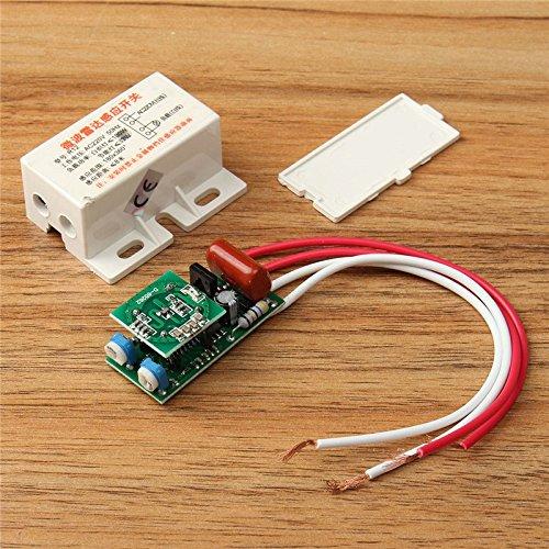 quickbuying 1pcs 220V–Radar de microondas de sensor de módulo de infrarrojos Body Motion Sensor Interruptor retardo distancia es ajustable útil Casa Casa de herramientas