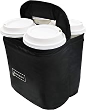 Brandzini Reusable Insulated Cup Carrier, Lightweight Padded and Foldable Drink Holder with Detachable dividers
