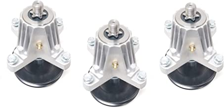 3 Upgraded Spindle Assemblies with Threaded Mounting Holes Replaces MTD Cub Cadet Troy-Bilt 618-06980 or 918-06980 (3)