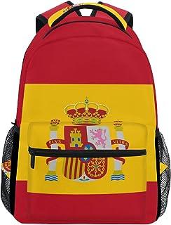 Mochila de viaje con la bandera de España para estudiantes