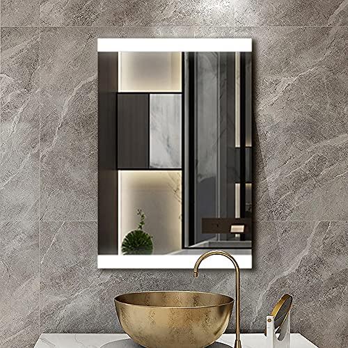OKJK Espejos de baño con led, Espejos de baño de Pared, antivaho, Espejo Maquillaje con luz, con Interruptor de Sensor táctil Smart Mirror