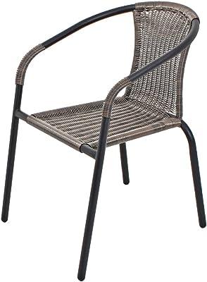 Stapelstuhl stahl Stuhl Gartenstuhl beschichtet braun in gutem Zustand