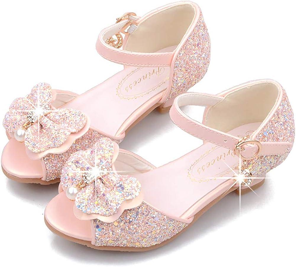 Stylein Girls Glitter Choice Bow Industry No. 1 Rhinestone Wedding Sequi Party Sandals