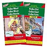 Cuba, este y oeste. 2 mapas de carreteras. Freytag & Berndt.: Set wegenkaarten 1:150 000: AK 3503