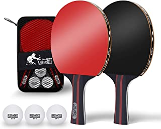 Quality Ping Pong Paddle Set, Pack of 2 table tennis paddles and 3 Table Tennis Balls in a Quality case
