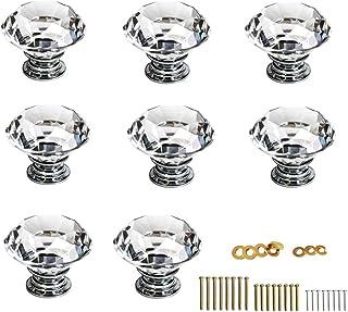 armarios Renquen armarios Tirador de Cristal Transparente para cajones 4 Unidades armarios cajones Muebles