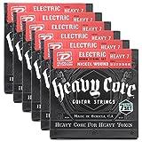 6 sets of Dunlop DHCN1060-7 Heavy Core 7/SET Electric Strings