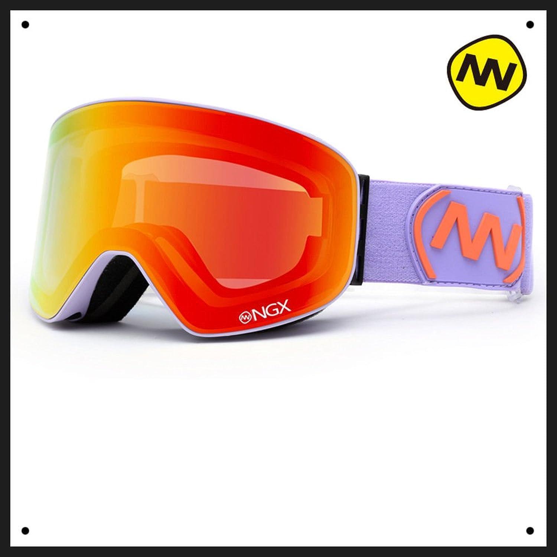 Lhjy Nandn Ski Goggles Double Layer Anti Fog Large Cylindrical Ski Equipped Single Board Anti Myopia Snow Ski J