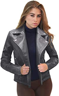 plus size gray leather jacket