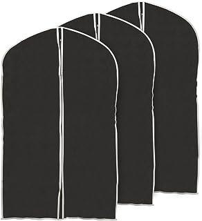 100cm Garment Bags, Set of 3 EZOWare Black Foldable Breathable Garment Suit Dress Jacket Coat Shirt Dust Cover Bag - Set of 3