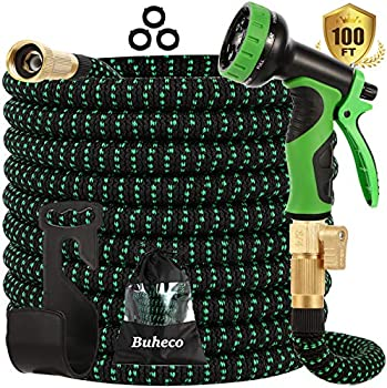 Buheco Expandable Garden Hose with 9 Function Spray Nozzle