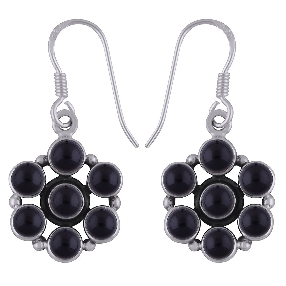 Inventory cleanup selling sale Solid 925 Sterling Silver Black Earrin Gorgeous Dangle Handmade Onyx Drop