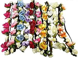 Women's Girls 10 Pack Flower Fairy Headband Bohemian Braid Wedding Beach Tiara Crown Elastic band hair headband