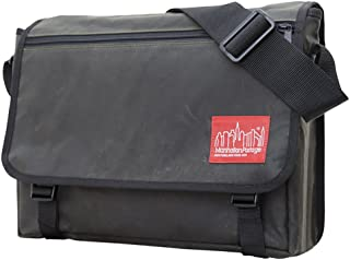 Manhattan Portage Waxed Canvas Europa Messenger Bag (3.5 x 15 x 11.5 inches, Olive)