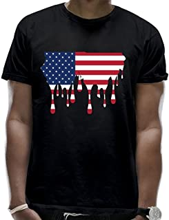 Men's Melting Usa Map Flag T-Shirts