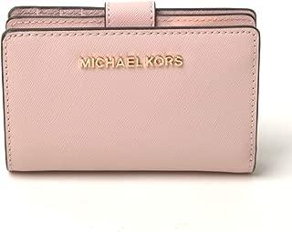 Michael Kors Jet Set Travel Bifold Zip Coin Wallet - Blossom