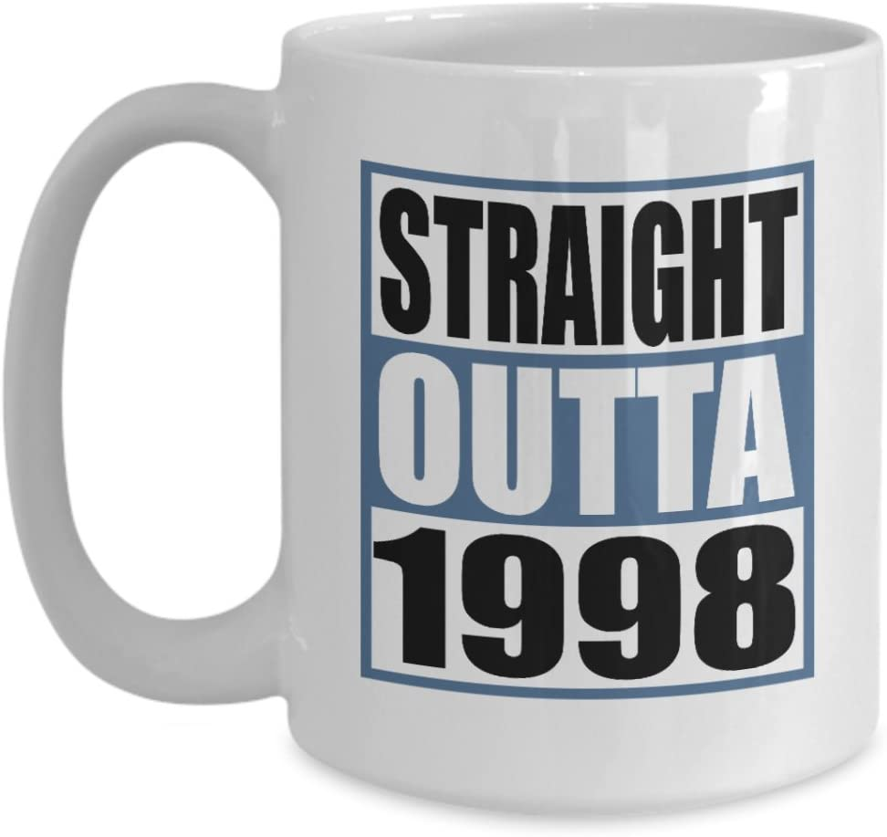 Funny Coffee Mug Manufacturer OFFicial shop specialty shop 15 OZ - Straight Outta Year Boys 1998-20 Old Id