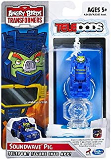 Hasbro Angry Birds Transformers Telepods Figure Pack Soundwave Pig