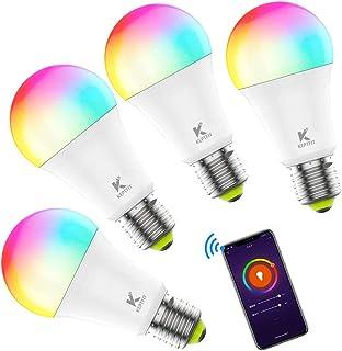 WIFI スマート LED電球 AlexaとGoogle Homeで使用 アレクサ対応 60W相当 E26 E27 RGB (調光)ミニ LED電球 スマート 調光 電球色 7W 500lm 色温度調節可 家電照明 超省エネライト 調光調色ラン...