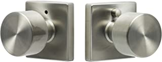 Sure-Loc Hardware BG102-SQ 32D Bergen Square Privacy Knob, Satin Stainless