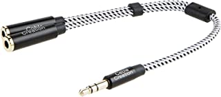 Headphone Splitter, CableCreation 3.5mm Stereo Audio Y Splitter Cable 3.5mm Male to 2 Port 3.5mm Female Compatible with iP...