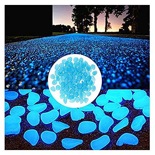 Caxmtu, Leuchtsteine / im Dunkeln leuchtende Kieselsteine, für Gehweg / Terrasse / Rasen / Garten / Hof / Aquarium, Dekoration, 100 Stück