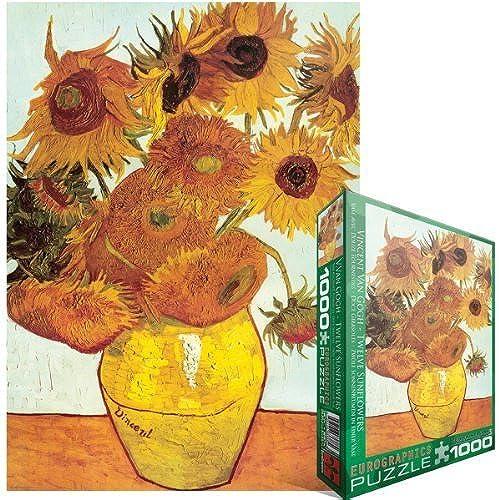 ¡no ser extrañado! Eurographics Twelve Sunflowers Sunflowers Sunflowers by Van Gogh 1000-Piece Puzzle by Eurographics  de moda