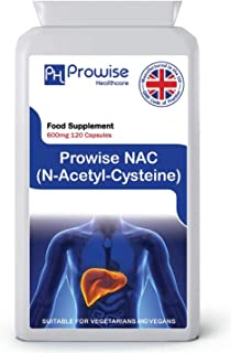 NAC N-Acetyl- Cysteine 600mg 120 Capsules - UK Manufactured | GMP Standards by Prowise Healthcare | Suitable for Vegetaria...