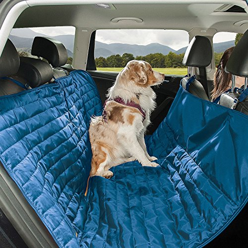 amc auto seat covers Kurgo Waterproof Reversible Loft Hammock Style Dog Car Seat Cover, Pet Seat Cover, Blue/Orange
