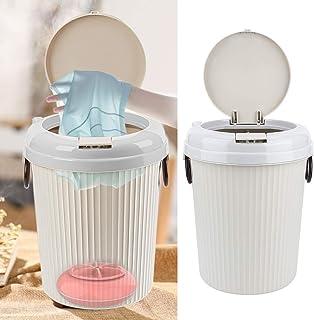 Bärbar kompakt tvättmaskin, mini-USB-driven ultraljud liten klädtvätt för skrivbordssal, 8L, 18W, vit(Pink)