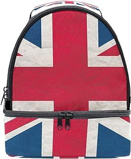 Shoulder Double Lunch Bag Uk Flag Cooler Adjustable Strap for Picnic