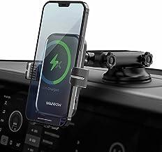 شارژر اتومبیل بی سیم MANKIW 15W/10W/7.5W شارژ سریع گیربکس اتوماتیک شارژر بی سیم اتومبیل شارژر بی سیم هوا دریچه نگهدارنده تلفن تلفن سازگار با iPhone 12/12 Pro Max/12 Mini/11 ، Galaxy S21/S20