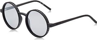 نظارات سيتي نيتيف الشمسية للنساء باطار اسود دائري من دي كيه ان واي