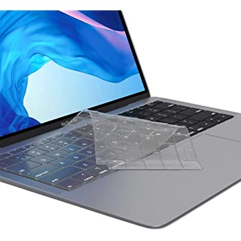 Clear CiSoo Ultra Thin TPU Clear Keyboard Cover Skin Protector for New MacBook Air 13 Inch 2020 Release with Touch ID Model A2179,US Layout
