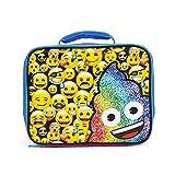 Emoji Full of Emoji Blue Insulated Lunch Kit