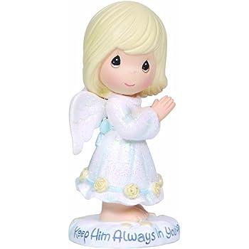 133029 Precious Moments Inc. Precious Moments Figurine Girl in Heart Dress