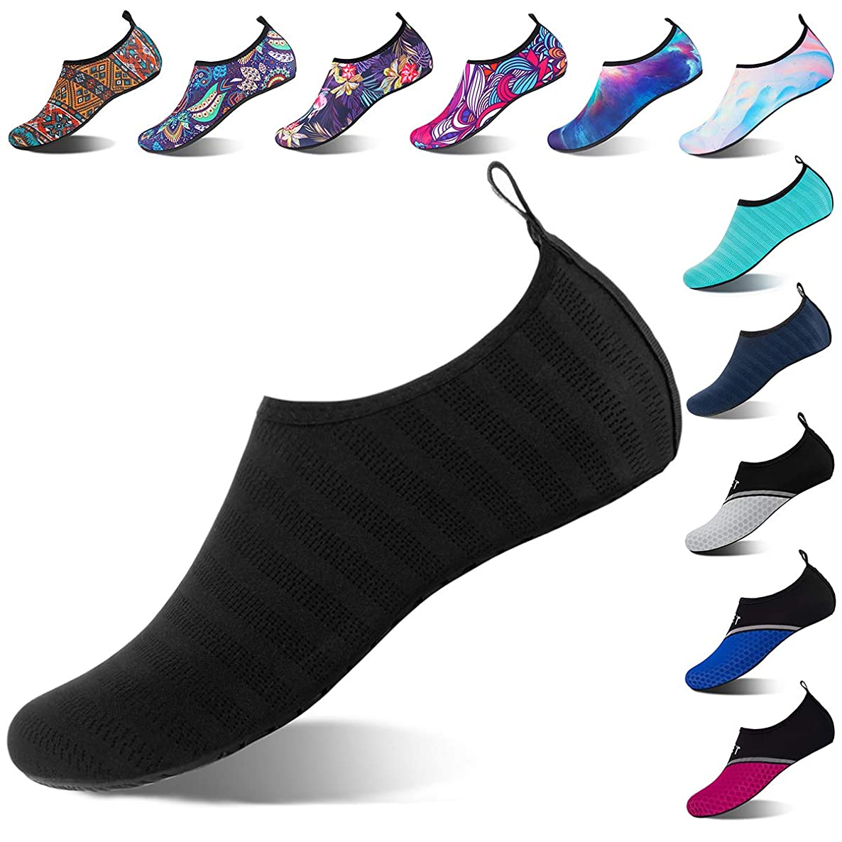 Water Shoes for Womens and Mens Summer Barefoot Shoes Quick Dry Aqua Socks for Beach Swim Yoga Exercise zpjbkqsxnmcniwls