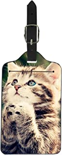 Coloranimal Durable Luggage Tags Fancy 3D Animal Pet Cat Printed Suitcase Labels