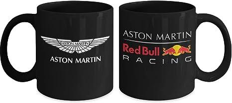 Amazon Com Aston Martin Red Bull Racing Coffee Mug Aston Martin Logo Coffee Mug Formula 1 Kitchen Dining