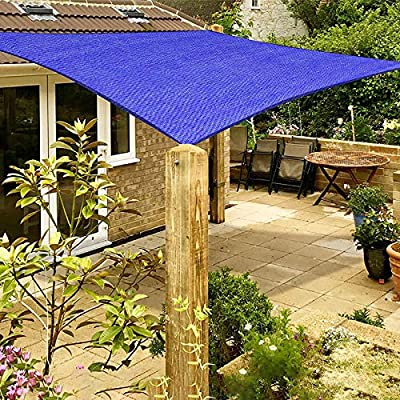SUNLAX Sun Shade Sail, 13'x20' Brown Rectangle Outdoor Awning Shade Cover 185GSM HDPE UV Protection for Patio Carport Shading