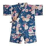 日本製 綿の郷 女の子用リップル生地甚平 じんべい 子供