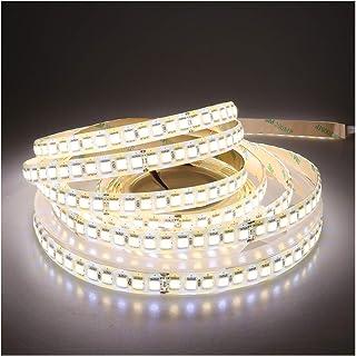 LEDENET Super Bright LED Strip Light Bi-Color Dual White Flexible SMD5050 Warm Cold 2800K-7000K 24V 600LEDs Silicone Coati...